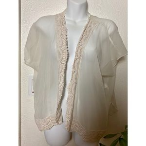 Band of Gypsies Lace Trim Cardigan